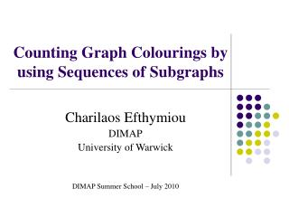 Counting Graph Colourings by using Sequences of Subgraphs