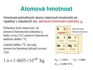Atom ová hmotnost