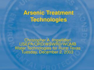 Arsenic Treatment Technologies