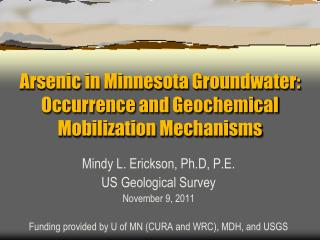 Arsenic in Minnesota Groundwater: Occurrence and Geochemical Mobilization Mechanisms