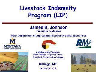 Livestock Indemnity  Program LIP