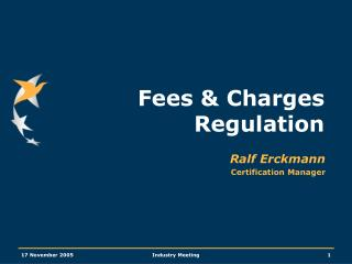 Fees & Charges Regulation