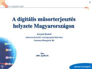 A digitális műsorterjesztés helyzete Magyarországon
