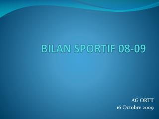 BILAN SPORTIF 08-09