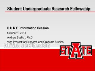 Student Undergraduate Research Fellowship