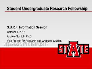 Student Undergraduate Research Fellowship