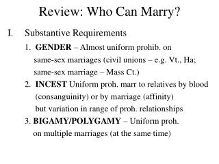 Review: Who Can Marry?