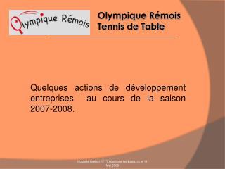 Olympique Rémois            Tennis de Table