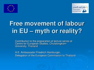 Free movement of labour in EU – myth or reality?