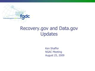 Recovery and Data Updates