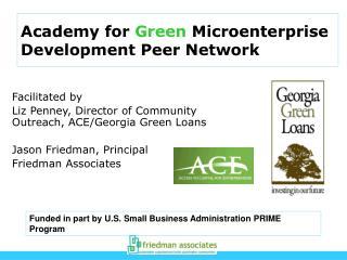 Academy for  Green  Microenterprise  Development Peer Network