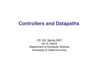 Controllers and Datapaths