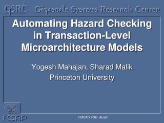 Automating Hazard Checking in Transaction-Level Microarchitecture Models