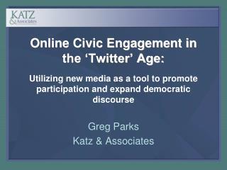 Greg Parks Katz & Associates