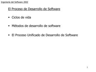 Ingeniería del Software 2002