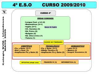 4º E.S.O       CURSO 2009/2010