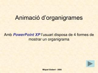 Animació d'organigrames
