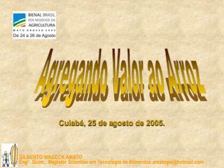 Cuiabá, 25 de a gosto de 2005.