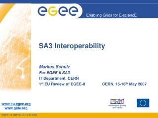 SA3 Interoperability