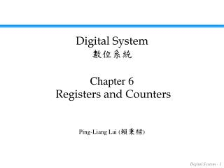 Chapter 6 Registers and Counters