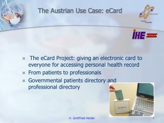 The Austrian Use Case:  eCard