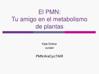 El PMN: Tu amigo en el metabolismo de plantas