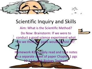 SCIENTIFIC INQUIRY and SKILLS
