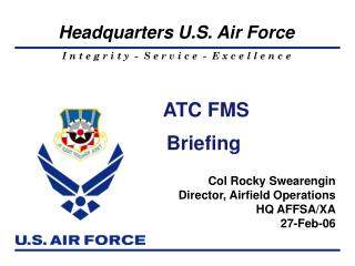 ATC FMS Briefing