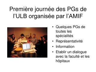 Première journée des PGs de l'ULB organisée par l'AMIF