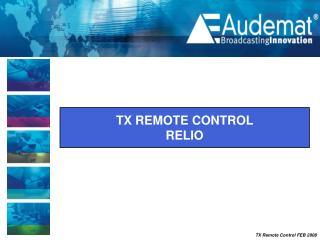 TX REMOTE CONTROL  RELIO
