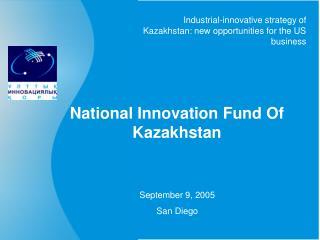 National Innovation Fund Of Kazakhstan