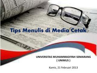 Tips Menulis di Media Cetak