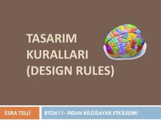TASARIM KURALLARI (DESIGN RULES)
