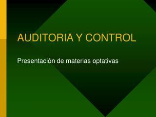 AUDITORIA Y CONTROL