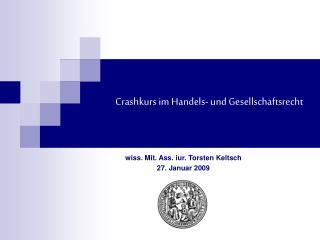 Crashkurs im Handels- und Gesellschaftsrecht