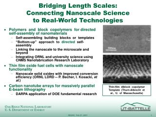 Bridging Length Scales: Connecting Nanoscale Science to Real-World Technologies