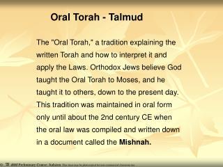 Oral Torah - Talmud