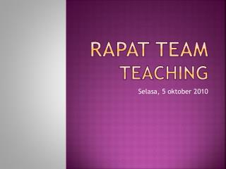 Rapat  team  teaching