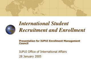 International Student Recruitment and Enrollment