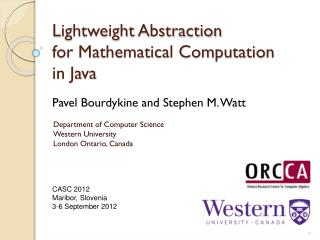 Lightweight Abstraction  for Mathematical Computation  in Java