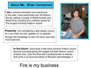 About Me : Brian Concannon