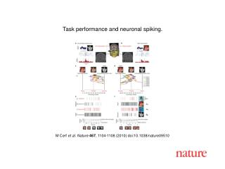 M Cerf  et al. Nature 467 , 1104-1108 (2010) doi:10.1038/nature09510