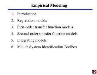 Empirical Modeling