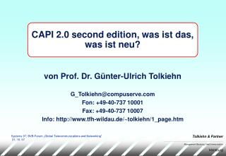 CAPI 2.0 second edition, was ist das, was ist neu?