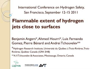 Flammable extent of hydrogen jets close to surfaces