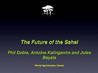The Future of the Sahel Phil Dobie, Antoine Kalinganire and Jules Bayala World Agroforestry Centre