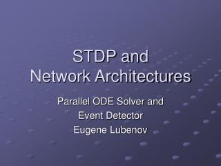 STDP and  Network Architectures