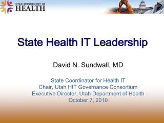 State Health IT Leadership