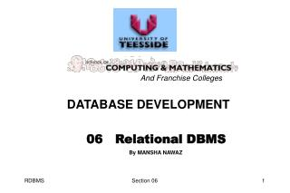 06   Relational DBMS