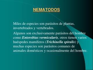 NEMATODOS